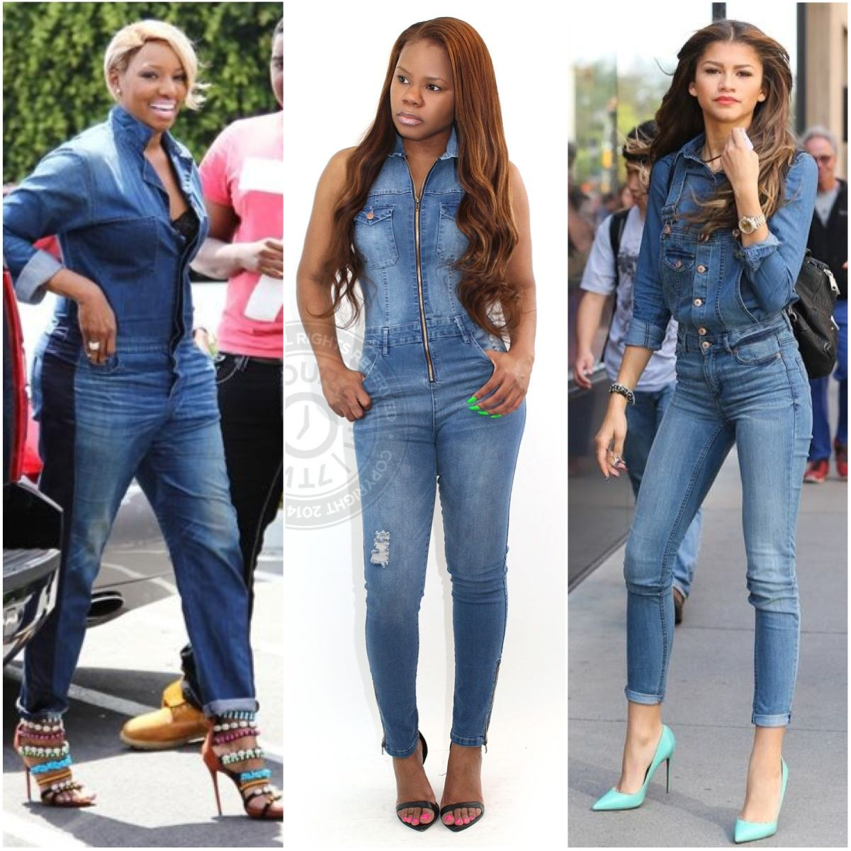 ec1d87f81db The denim jumpsuit... as seen on Nene Leakes and Zendaya. http