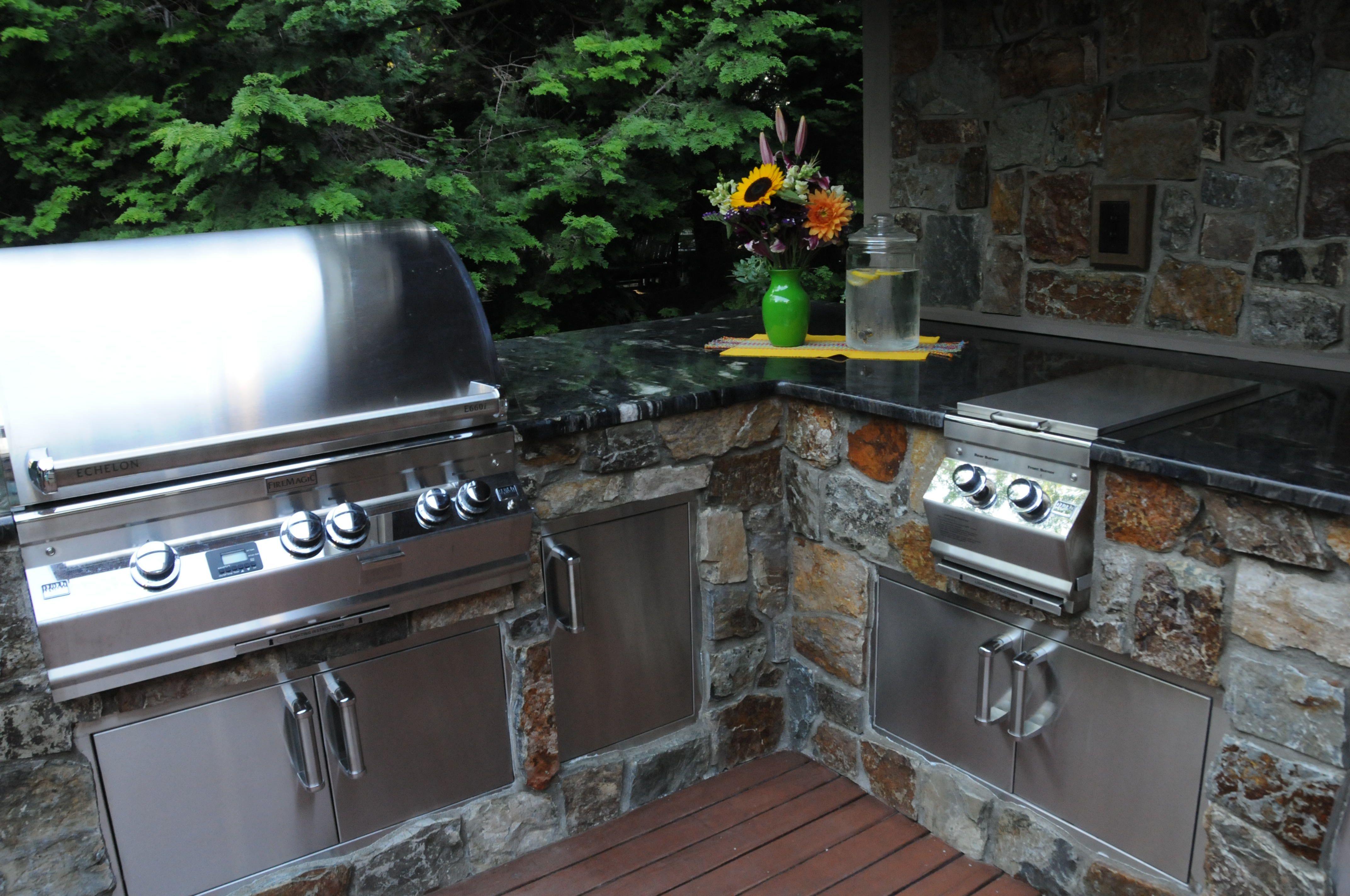 Graysen woods outdoor kitchen island ideas for the backyard