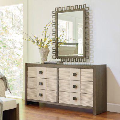 Brayden Studio Synchronicity 6 Drawer Dresser with Mirror