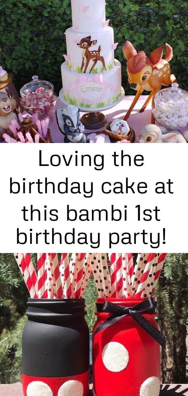 Loving the birthday cake at this bambi 1st birthday party! see more party ideas and share yours at c #disneykitchen