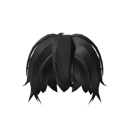 Customize Your Avatar With The Black Anime Hair And Millions Of Other Items Mix Match This Hair Accessory With Othe In 2021 Anime Boy Hair Anime Hair Boy Hairstyles