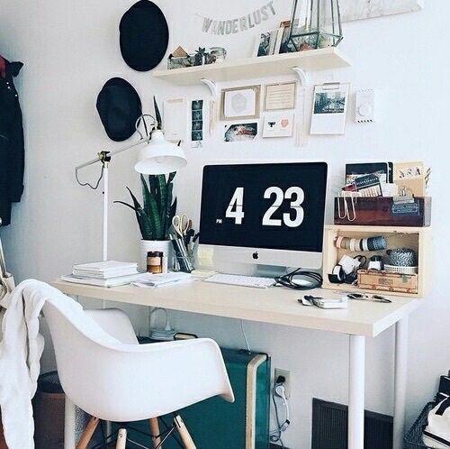 Le Black Computer Desk Pinterest Plants School Tumblr White