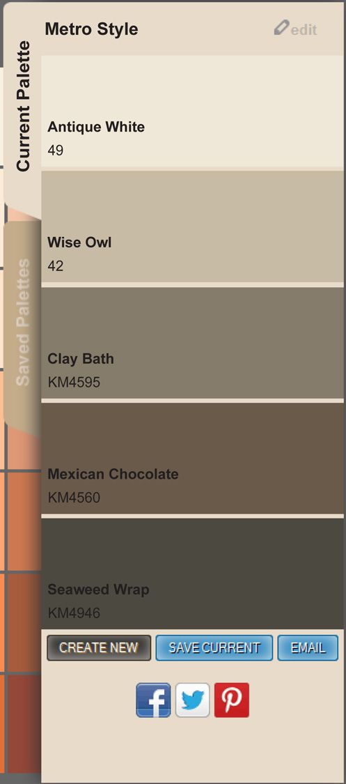 Metro Style To Create Save And Share Your Own Paint Color Palette Go Www Mycolorstudio Paintcolors