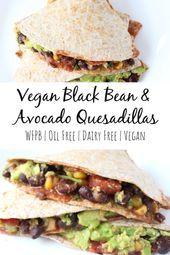 Vegan Black Bean  Avocado Quesadillas Recipe   yummy healthy food Vegan Black Bean  Avocado Quesadillas Recipe   yummy healthy food
