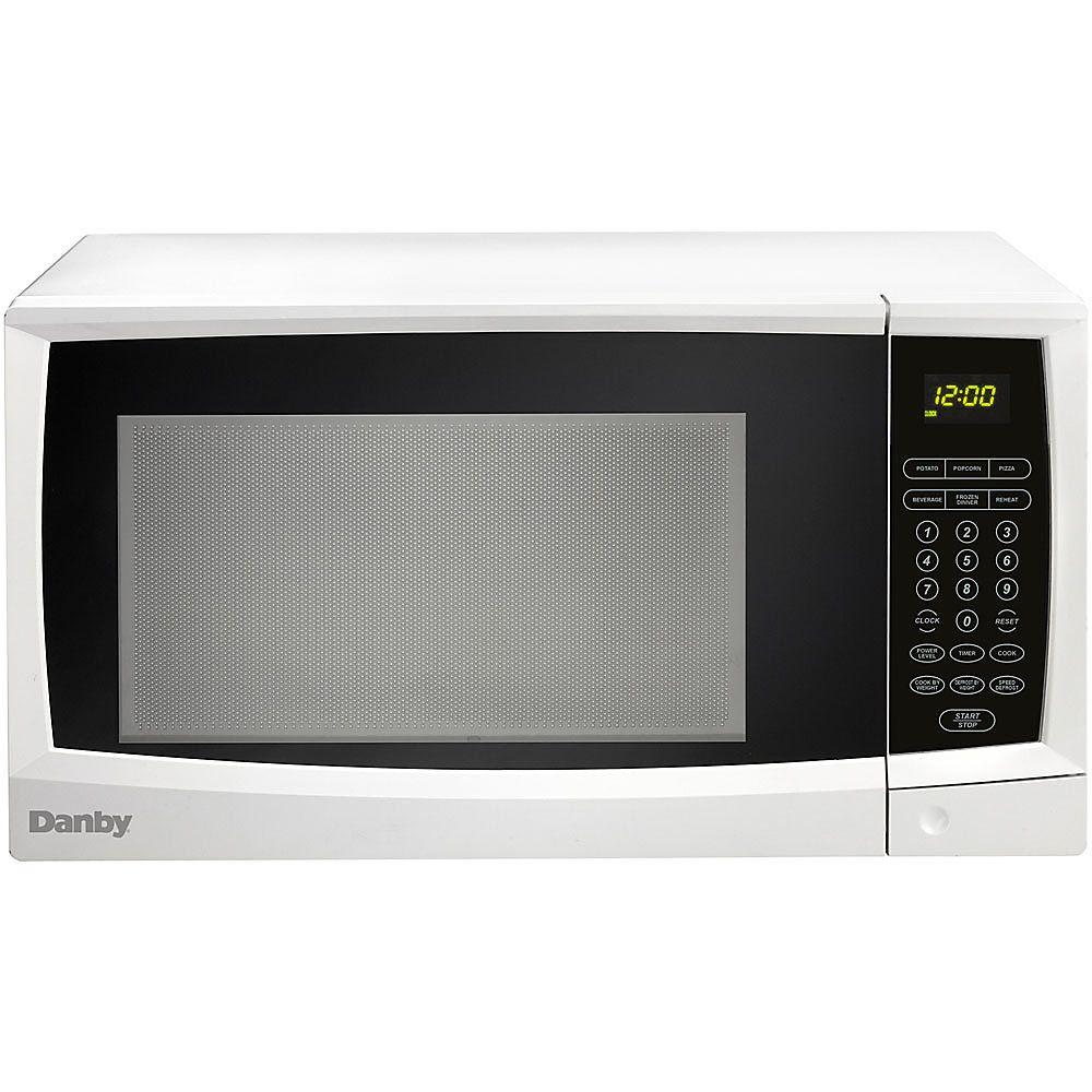 Danby Microwave Oven Single 8 23 Gal Capacity Microwave 10 Power Levels 1000 W Microwave Power Countertop White Countertop Microwave Oven Microwave Oven Microwave