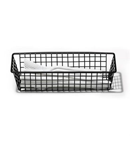 3 x 9 Inch Grid Drawer Organizer - Black in Wire Baskets | Kitchen ...