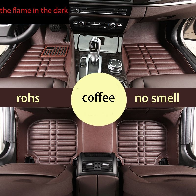 Free Shipping Leather Car Floor Mat Carpet Rug For Bmw 5 Series