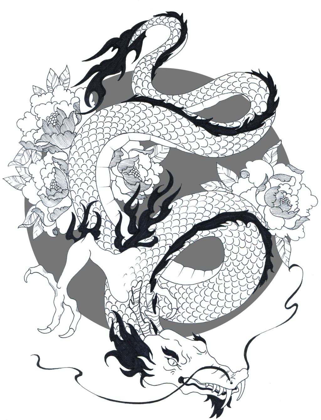 Japanese Dragon Drawings Japanese Dragon by