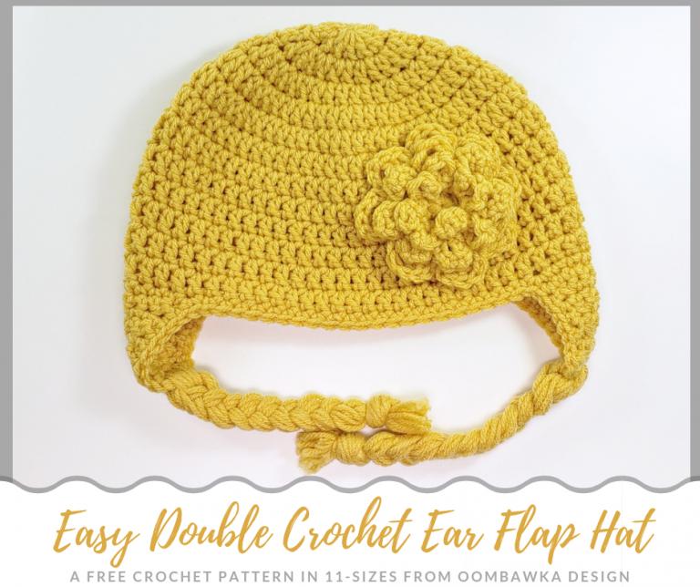 Easy Double Crochet Ear Flap Hat Free Pattern. trong 2020