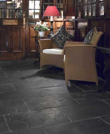 Slate Flooring Tile Floor, Black Stone Tile Flooring