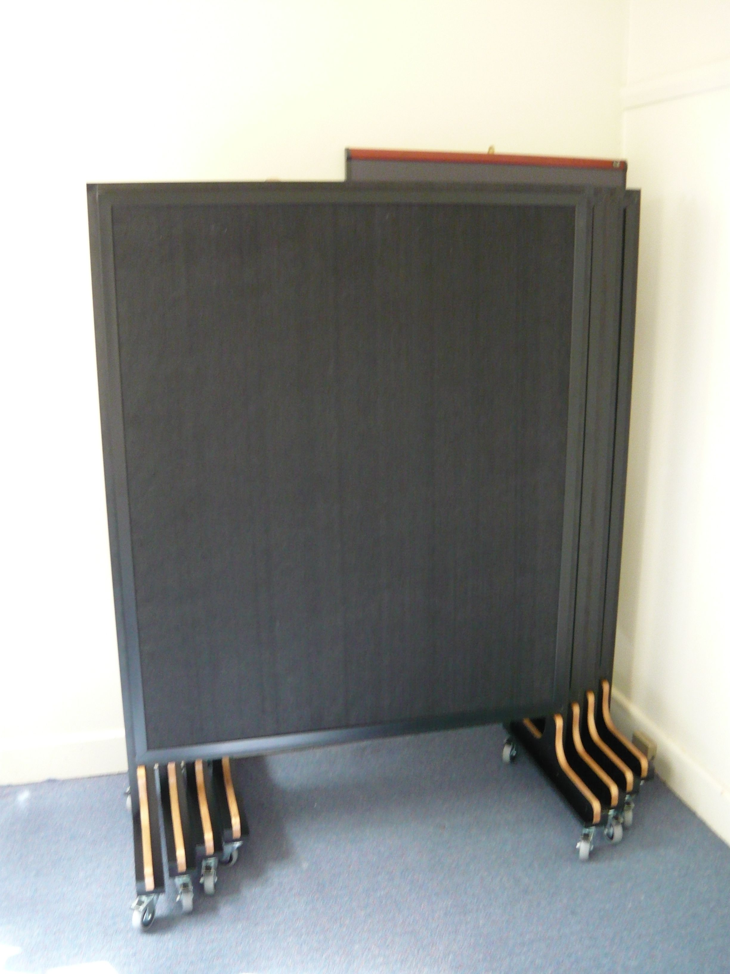 custom quietspace acoustic panels on wheels for practical use and storage zik pinterest. Black Bedroom Furniture Sets. Home Design Ideas