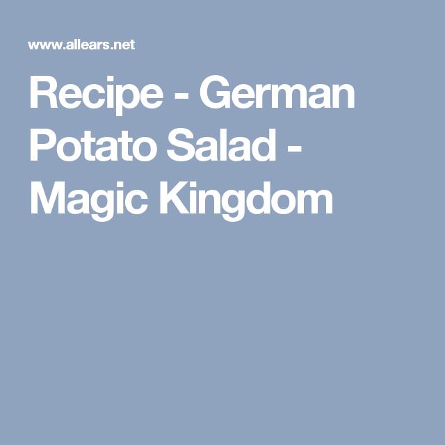 Epcot German Potato Salad Recipe