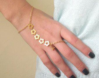Hand Chain Bracelet Gold Slave Ring Bracelets