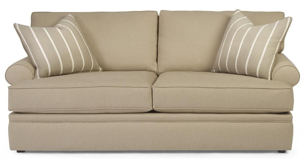 69800 Casual Styled Sofa With Rolled Arms By Alan White