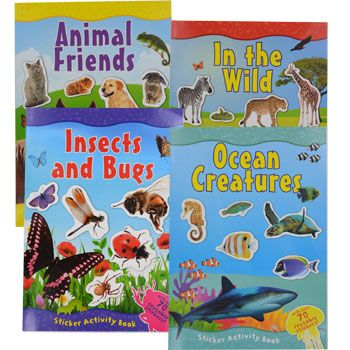 bulk nature sticker activity books at dollartreecom - Dollar Tree Coloring Books