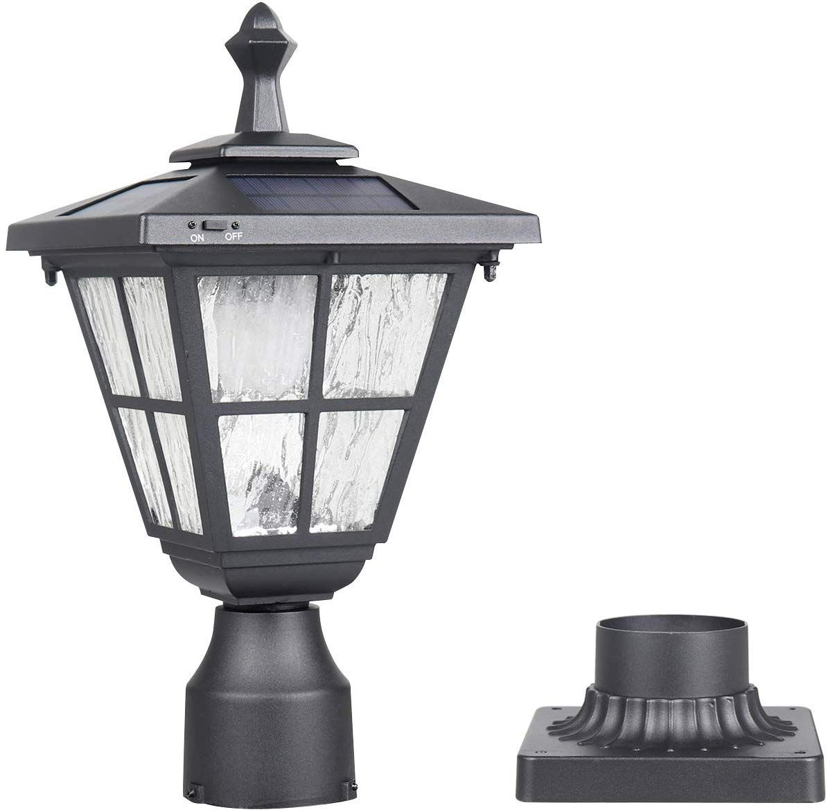 Kemeco St4325q Post Solar Light Cast Aluminum Led Lamp Fixture With 3 Inch Fitter Base For Outdoor Garden Post Pole Solar Post Lights Post Lights Solar Lights