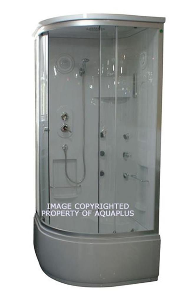 This Aquaplus AP8128 steam shower cubicle has high tub tray with ...