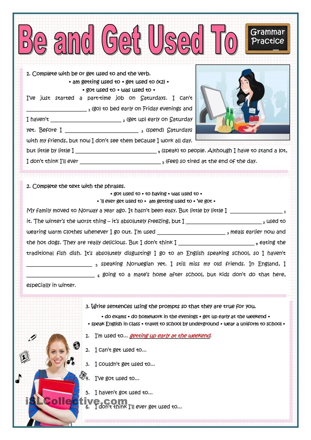 Be Or Get Used To More Practice Verb Practice Grammar Worksheets Learn English [ 1440 x 1018 Pixel ]