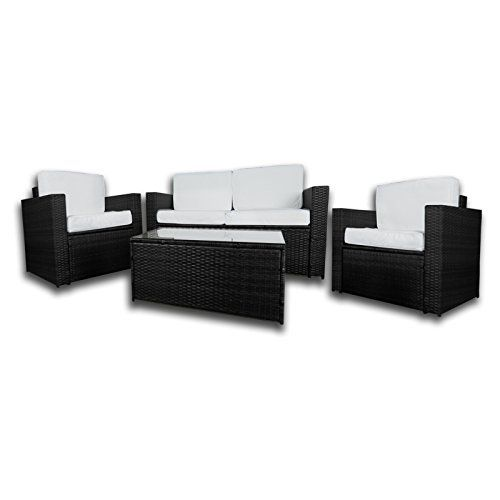 Garden Furniture Sofa Sets dirty pro tools™ black colour pu rattan garden furniture sofa set