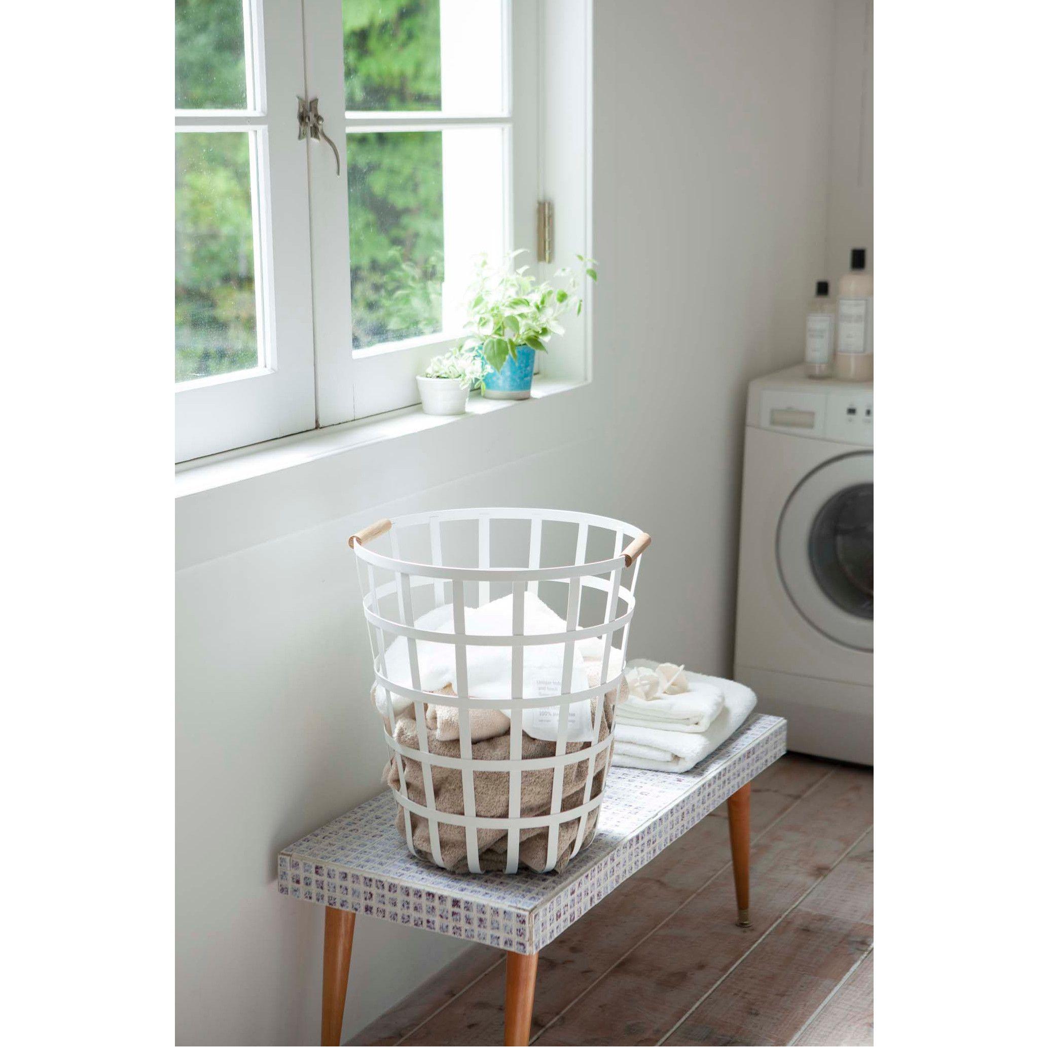 Round Laundry Basket Tosca Yamazaki Home Kaufmann Mercantile