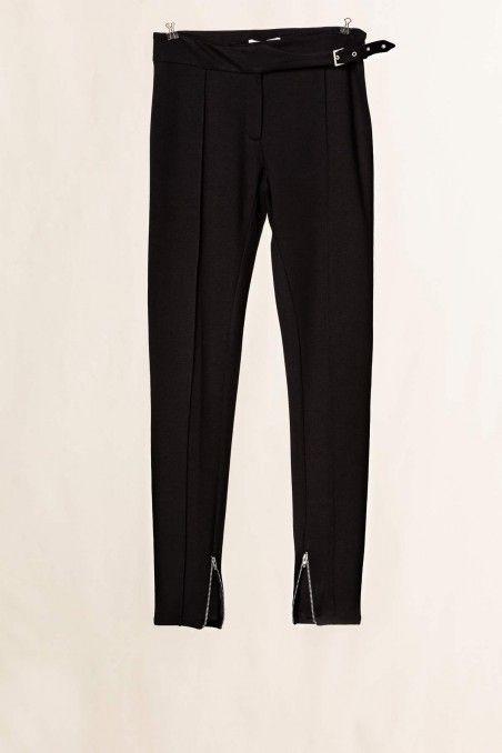 Pantalone dettaglio cucitura nero