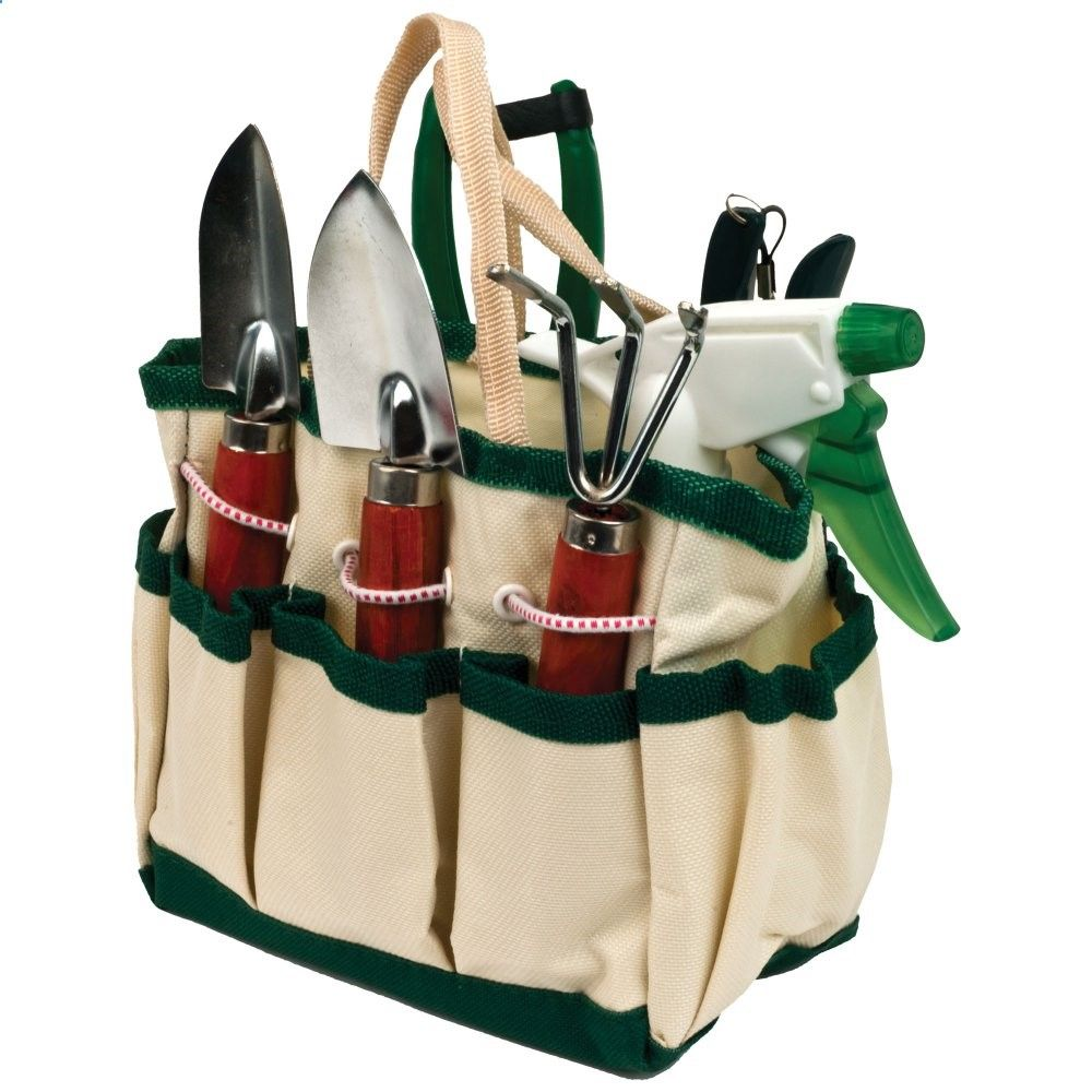 Trademark Tools 7-in-1 Plant Care Garden Mini-Tool Set - Make gardening easier by carrying the Trademark 7-in-1 Plant Care Garden Mini-Tool Set. This handy bag is loaded with six essential tools that make ta...