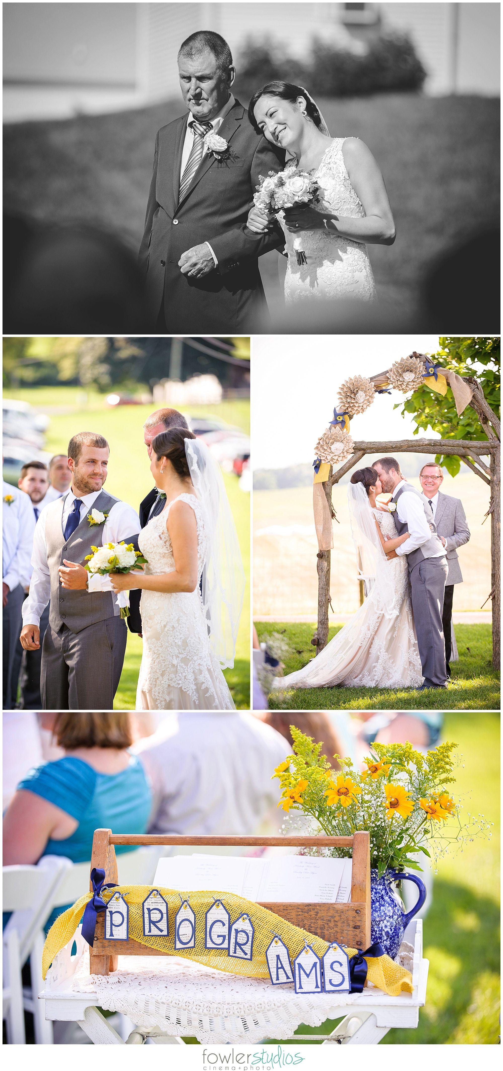 Blue + Gold Wedding | On Sunny Slope Farm | Harrisonburg, Virginia ...