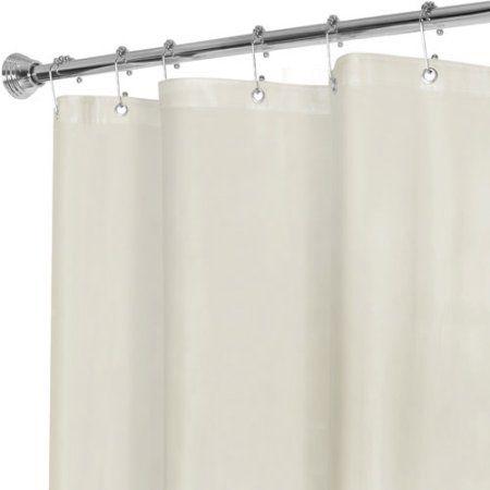 Maytex No More Mildew Premium 10 Gauge Shower Curtain Liner Beige