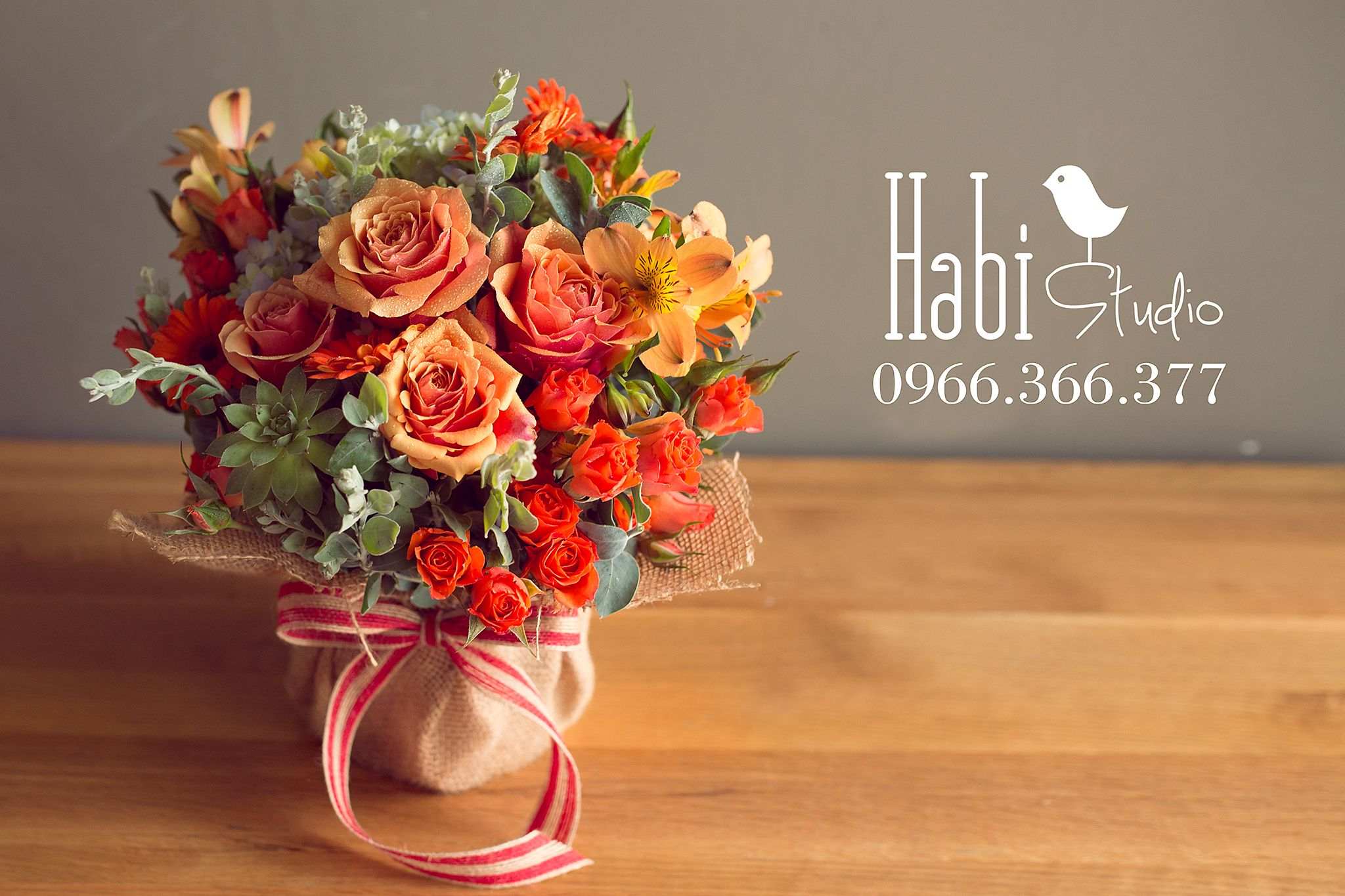 Habi Flower, Habi Studio, Flower Arrangement, Birthday Flower, Habi Design,