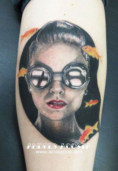 Realistic Portraits Tattoo by Andres Acosta | Tattoo No. 12001