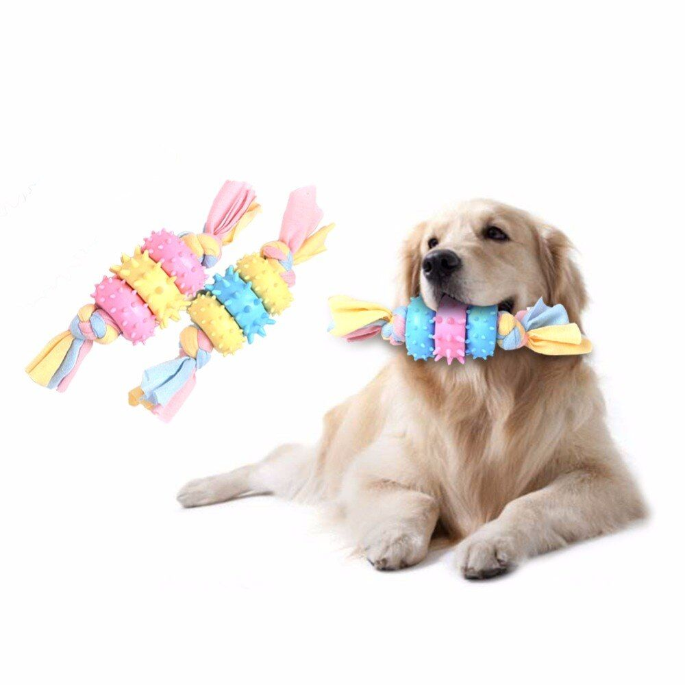 Dog Toys Indestructible Dog Toys For Chewers Knot Toy Durable Braided Bone Rope Chew Knot Squeak Chew Sound Toy In 2020 Dog Toys Indestructable Stimulating Dog Toys Dog Toys
