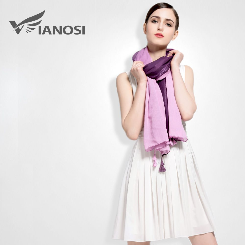 Photo of US $7.88 |[VIANOSI]  Fashion Tassel Shawls and Scarves Gradient Color Design hijab High Quality Silk Scarf Luxury Brand Package VA027|shawls and scarves|tassel shawlbrand shawl – AliExpress