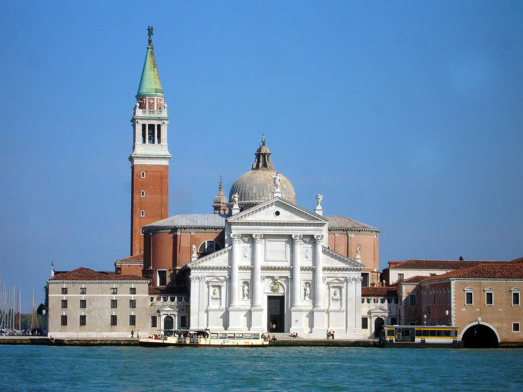 San Giorgio Maggiore, Venice, Italy by Palladio's. I saw my first monk sporting a Gucci manbag out in front of this lovely structure.