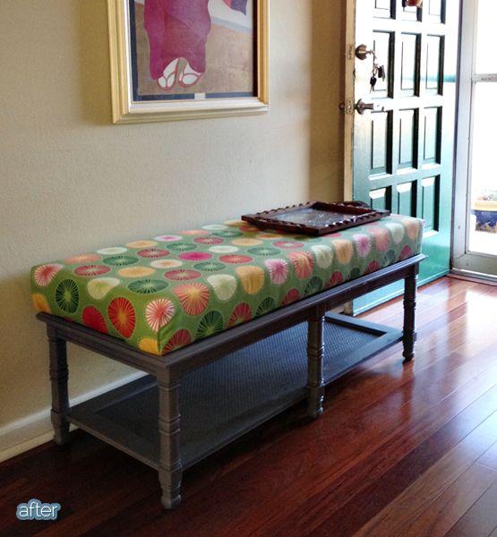 Reciclar mesa de café como banco para sentarse | Ideas casa ...