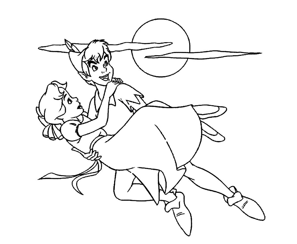 Peter-Pan-and-Wendy-Coloring-Pages.jpg (1200×989) | Pinterest ...