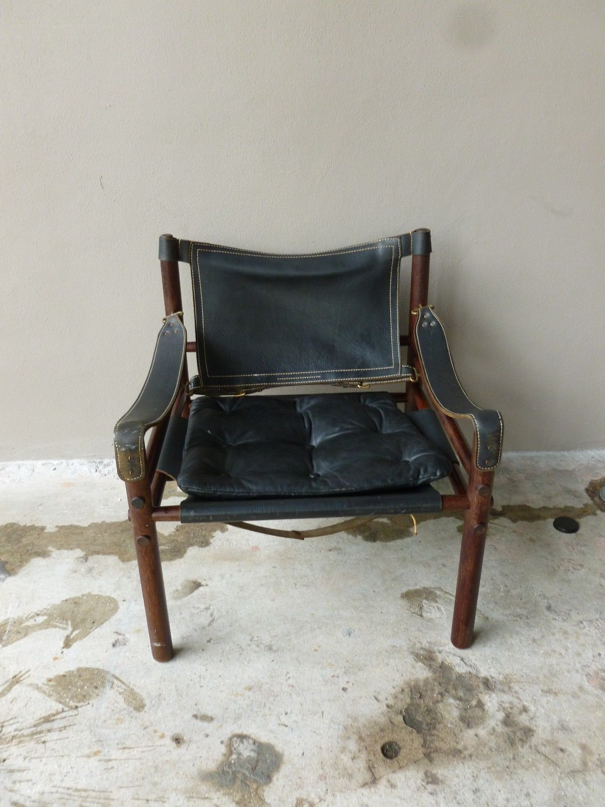 mid century modern scanform colombian leather lounge chair