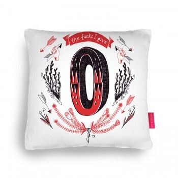 »the fucks i give« cushion - brilliant!
