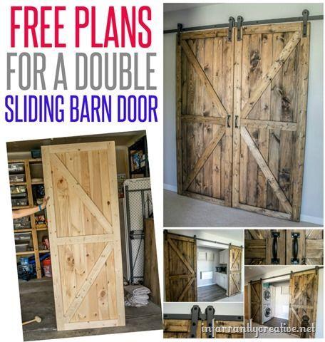 DIY Sliding Double Barn Doors - Reclaimed Wood