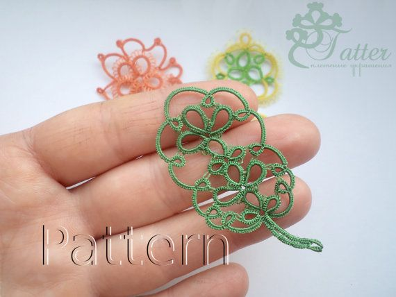 Etsy の Tatting pattern Oak Leaf Pendant by JTatter