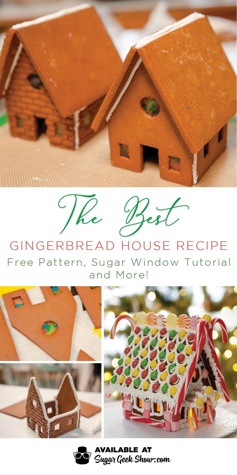 Gingerbread House Recipe + Template (Video Tutorial) | Sugar Geek Show