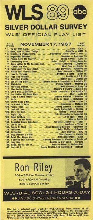 silver dollar survey wls chicago november 1967 retro pinterest