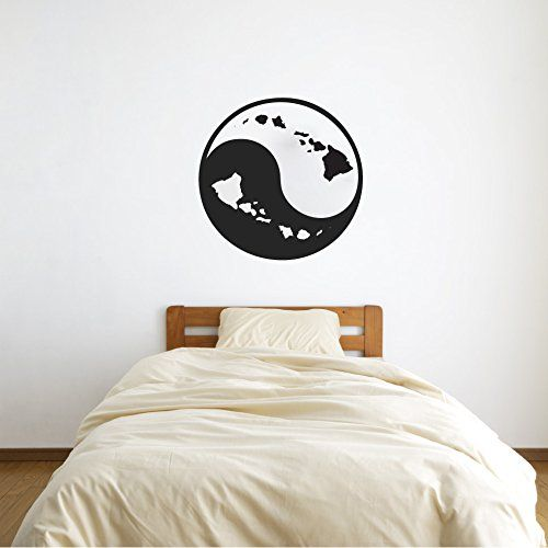 Hawaii Yin Yang Sign Symbol With Hawaiian Islands Vinyl Wall Decal - Vinyl wall decals application instructions