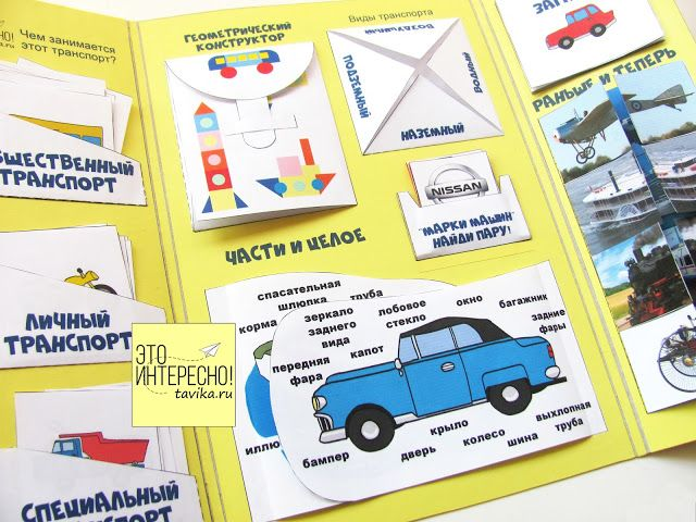 Лэпбук Транспорт. Lapbook transport