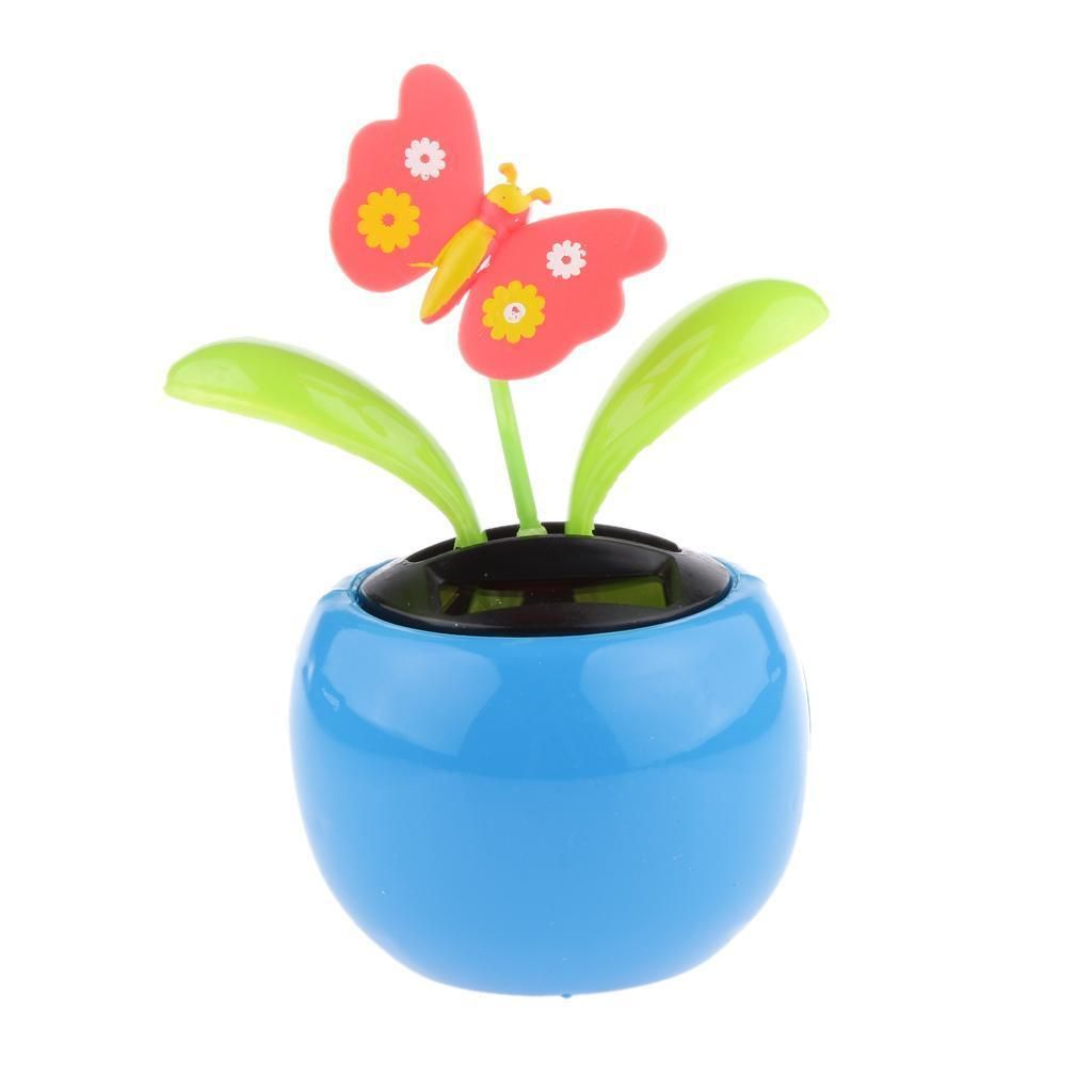 4 14 Warm Toy Solar Powered Dancing Flower Flip Flap Toy Car Desk Home Decoration Ebay Collectibles Butterfly Kids Flower Pots Dancing Toys