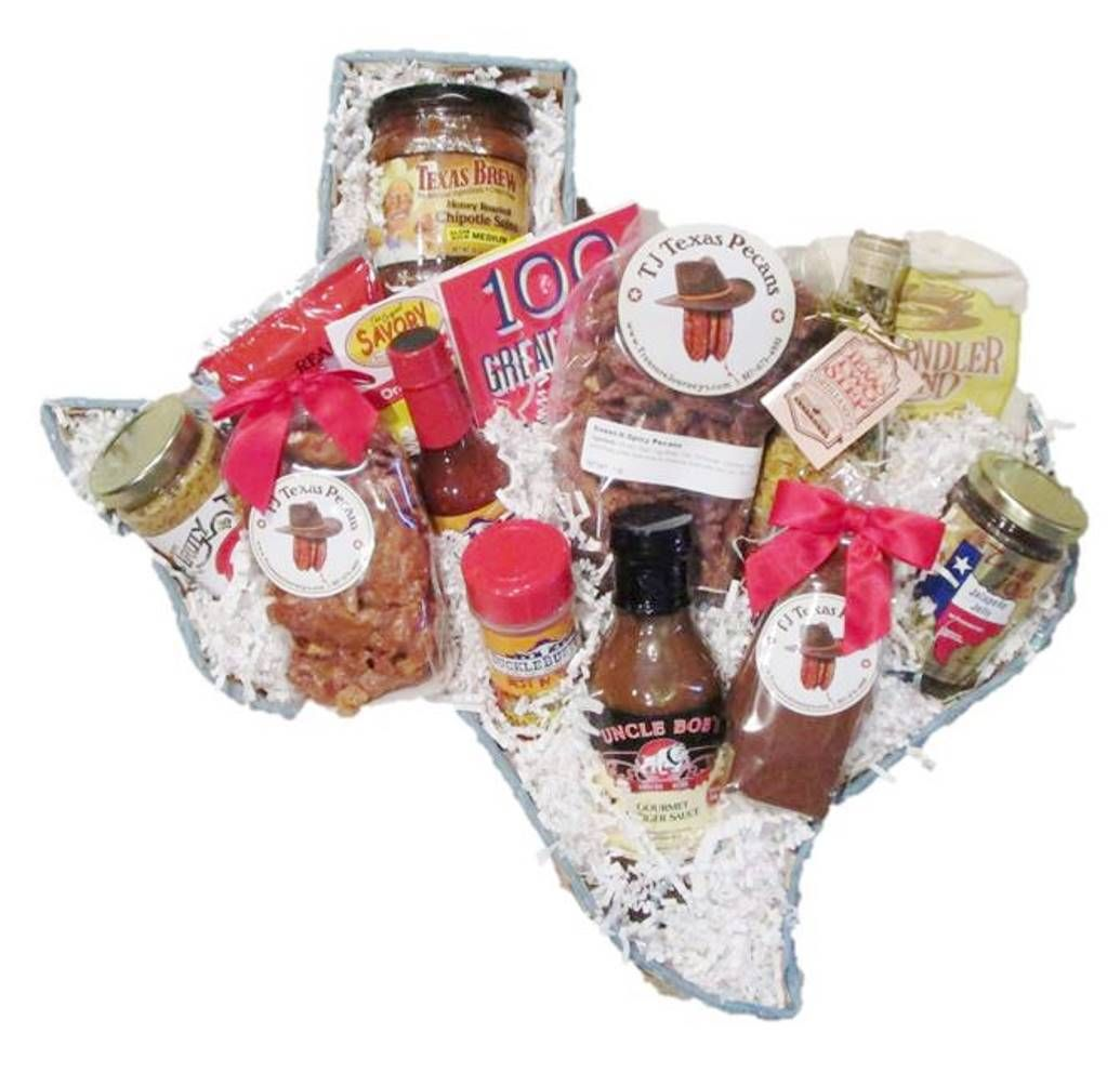 Trail Boss Texas Gift Basket | Food gifts, Texas and Delicious food