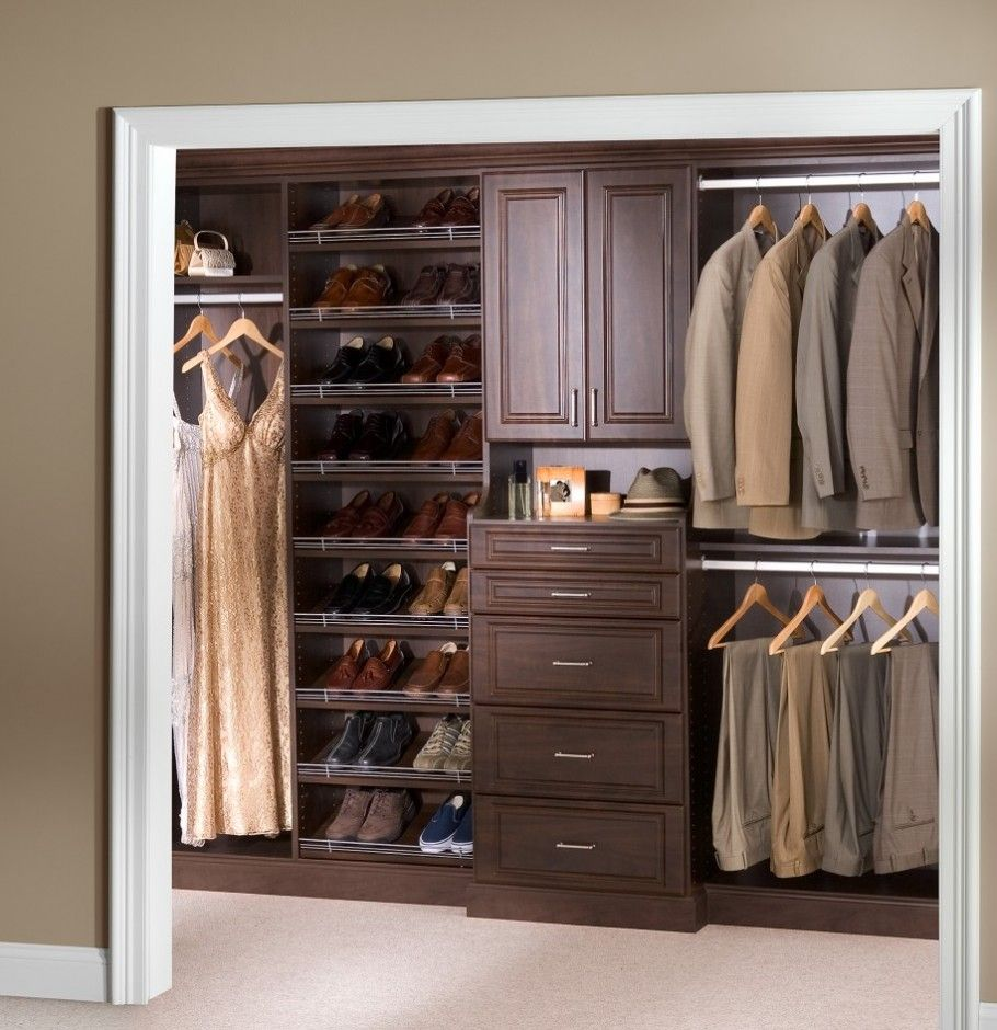 Small Bedroom Closet Design Ideas bedroom closet designs design ideas to organize your bedroom wardrobe closets decoration Walk In Closet Cool Modern Closet Design With Dark Brown Wooden Small Bedroom Closet Design