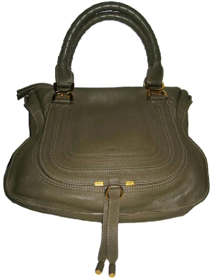 c3682a7d2cae Save 46% on the Chlo Chloe Marcie Large Leather In Olive Green Satchel!  This satchel is a top 10 member favorite on Tradesy.