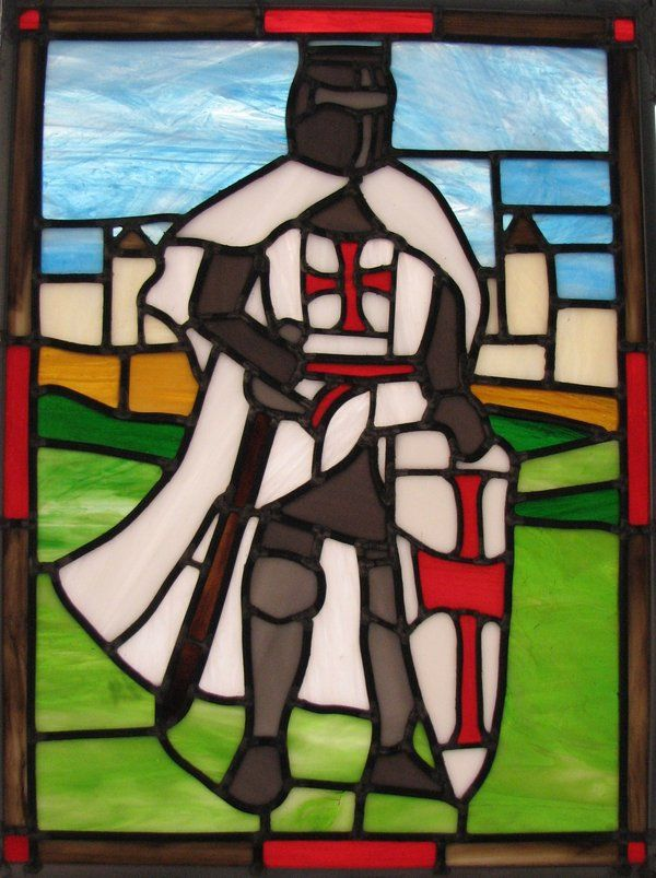 ( - p.mc.n. )  stained glass knights templar | Templar Knight Stained Glass by AutobotWonko on deviantART