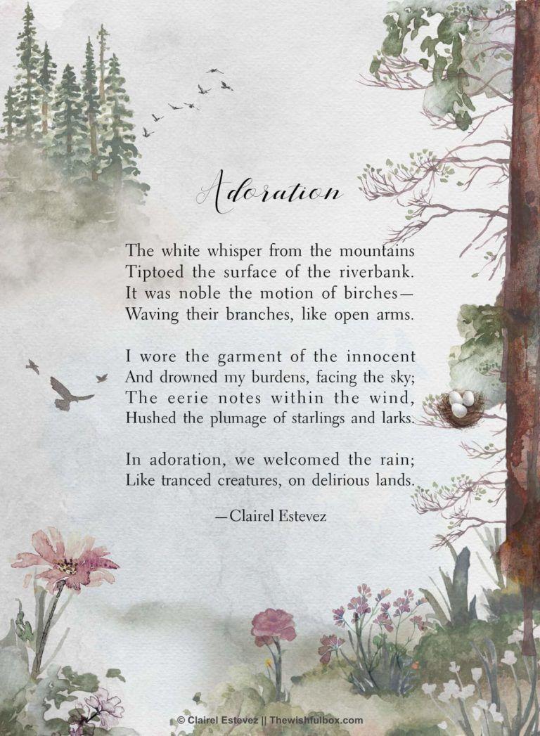 Pluviophile Rain Poems Nature Poetry By Clairel Estevez