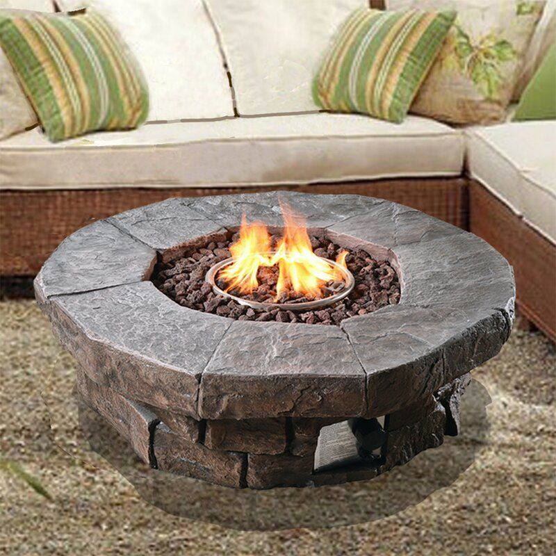 Annabesook Stone Propane Fire Pit In 2020 Outdoor Propane Fire Pit Gas Fire Pits Outdoor Propane Fire Pit